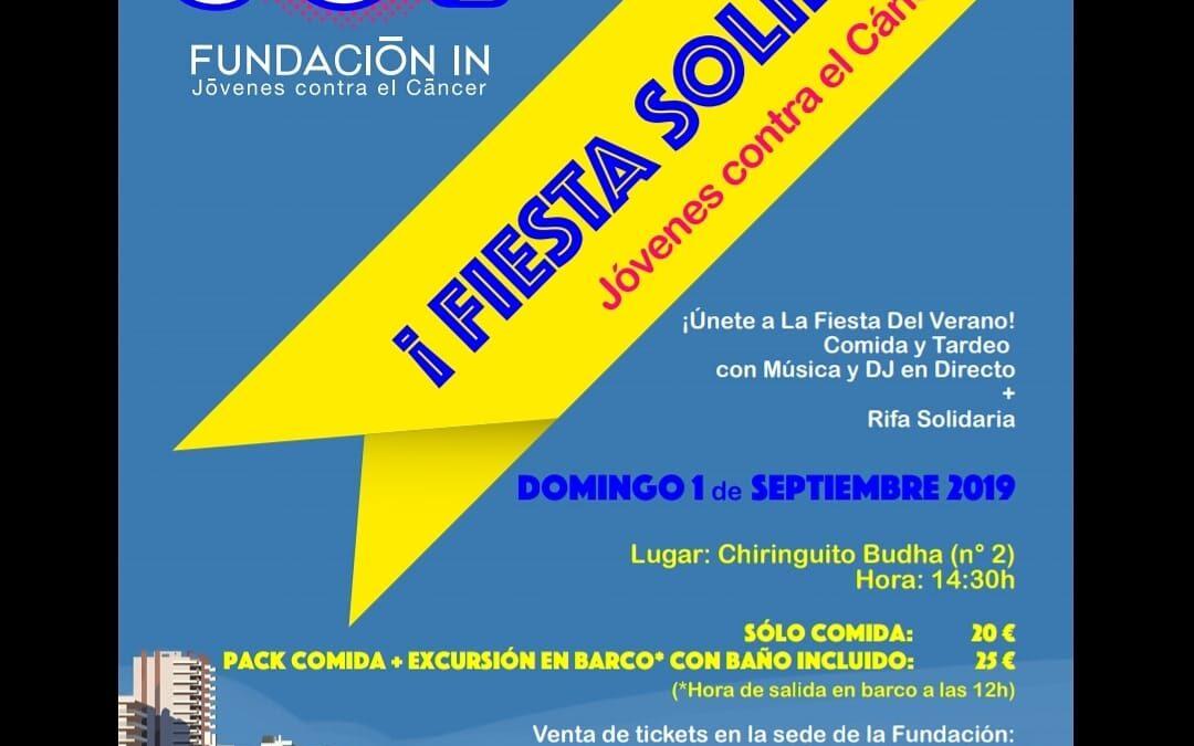 Fiesta Solidaria Fundación IN, jóvenes contra el cáncer